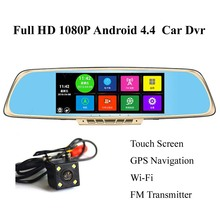 Newest 7 inch Full HD 1080PCar Rearview Mirror DVR CarCamera Parking Night VisionCar DVR Camera Video Recorder Free Ship(China)