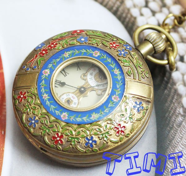 New Design Two Cover Tourbilon MoonPhase Pocket Watch freeship<br>