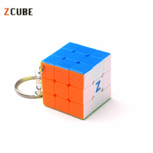 Zcube 3cm Keychain Magic Cubes 3x3x3 Speed Puzzle Cubes Multicolor Cube Educational Toys for Children(China)