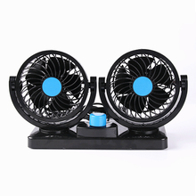 12V/24V Car Air Conditioner Fan Portable Ventilateur Mini Fan Silent 360 Degree Rotating Adjustable Car Air Cooling Fan Blower(China)