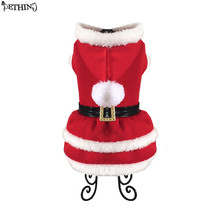 Santa Claus Style Pet Dog Costume Christmas Pet Clothes Winter Hoodie Dog Coat Clothes for pet cat Dog christmas apparel XS-XL