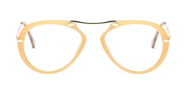 daf3f8c9225 CCSPACE Lady Aviator Glasses Frames For Women Brand Designer Optical ...