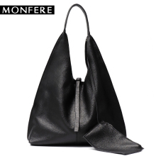 Buy MONFE Genuine Leather Hobo Bags Women Casual Large tote designer shoulder bags High Brand handbag female liner purse set for $58.55 in AliExpress store