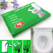 Free shipping Hot sale 1 Pack 10Pcs Disposable Paper Toilet Seat Covers Camping Festival Travel Loo GYH