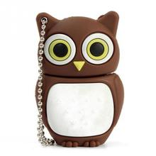 lovely Owl USB Flash Drive pen drive 2GB 4GB 8GB 16GB cartoon bird memory stick USB 2.0 U disk(China)