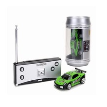 Hot Sale 20KM/H Coke Can Mini RC Car Radio Remote Control Micro Racing Car 4 Frequencies(China)