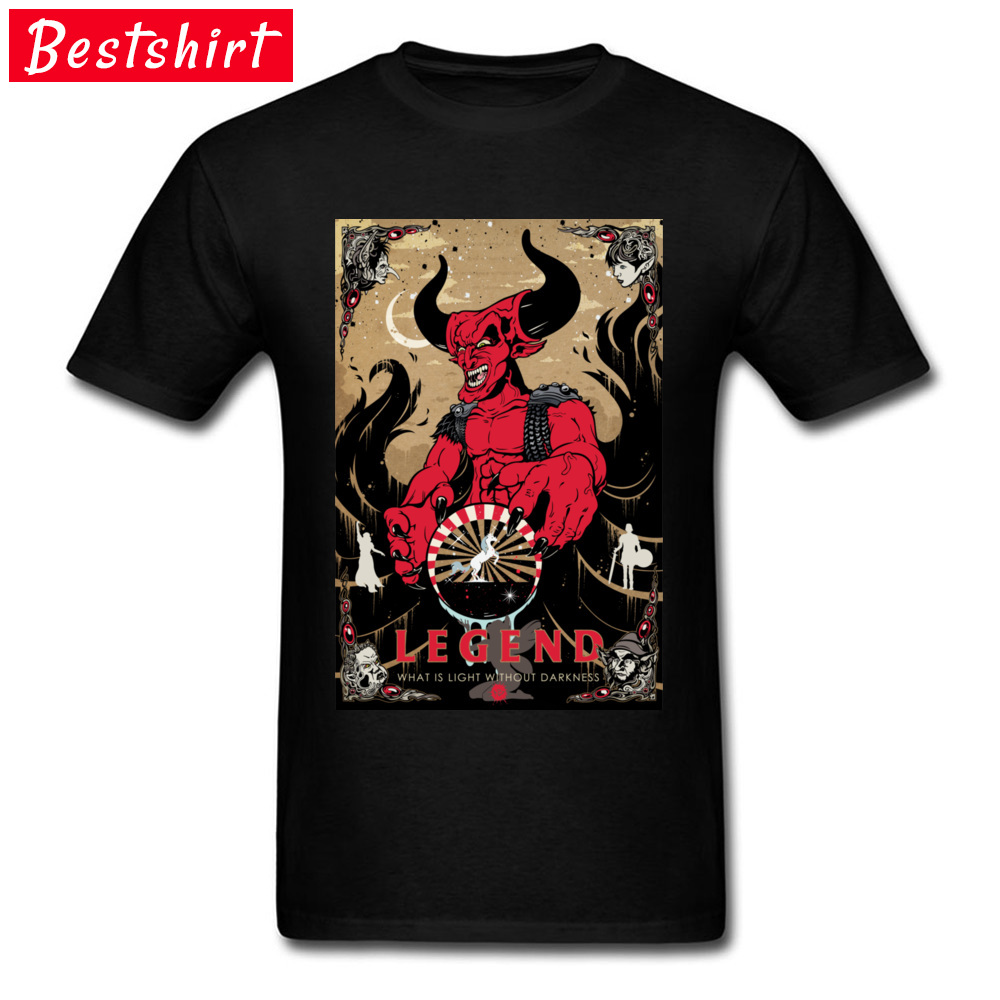 Darkness Crewneck Top T-shirts Fall Tees Short Sleeve 2018 Popular Cotton Fabric Printed On Clothing Shirt Design Men's Darkness black