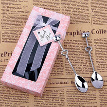 Stainless Steel Couple Coffee Spoon Novelty Creative Practical Small Gifts in Return for Wedding 2pcs/set