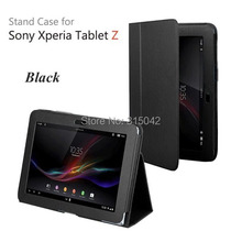 New arrival for Sony Xperia Tablet Z Lychee PU Leather case/cover, SGP 341 311 312 Leather stand case, many color