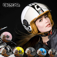 women BEON B110 motocross half face Helme, motorcycle MOTO electric bicycle safety headpiece scoote dirt bike