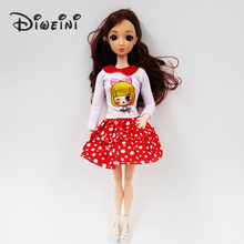 Barbie Dolls Clothes White dots skirt Beautiful Sorts Handmade Fashion Party Dress For Barbie Doll Best Girl's Gift Kid's Toy(China)