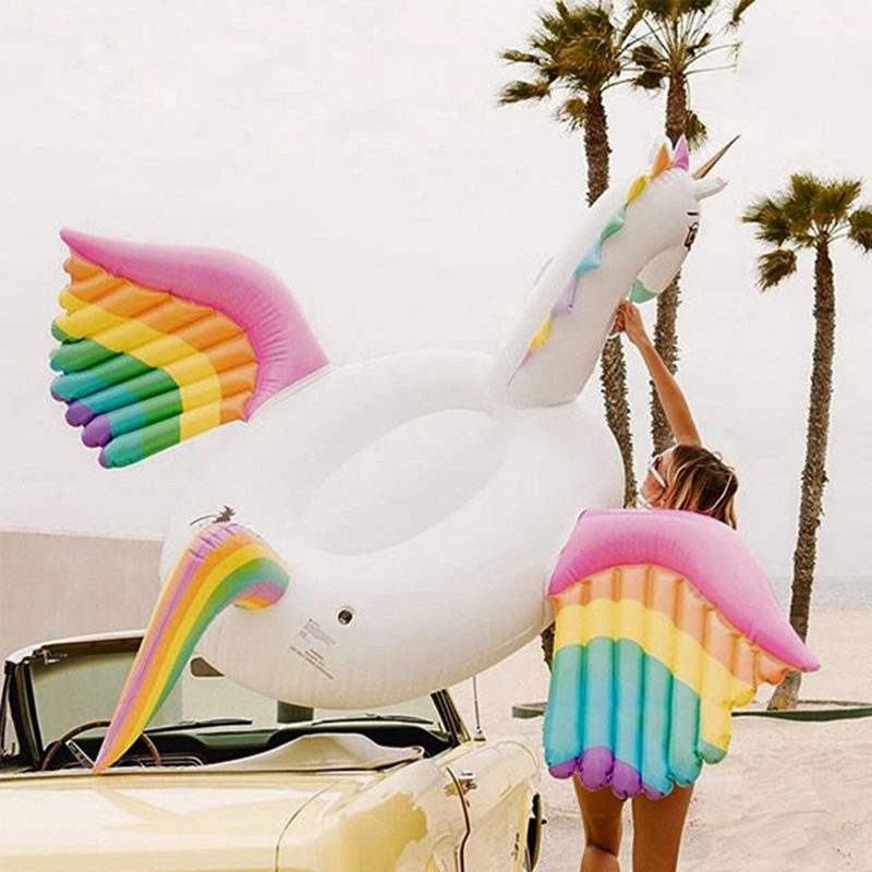 New Inflatable Rainbow Pegasus Unicorn Float