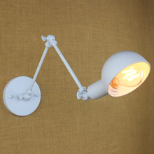 Long Arm 3 Parts Iron Wall Light Cafe Aisle Hall Project Lamp Bedroom Cafe(China)