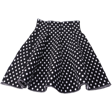 Spring Autumn Girl Skirts Black White Dots Casual Knitting Short Skirts Princess Tutu Skirts Girls Kids Clothing(China)
