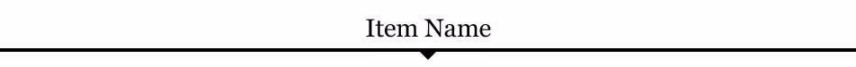 Item Name