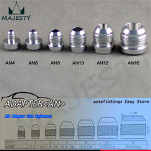 4pcs AN -12 AN12 Male Aluminium Adapter Weld Bung Nitrous Hose Fitting Tank Cell silver(China)