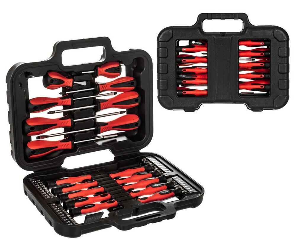 58PC Screwdriver &amp; Bit Set Precision Slotted Torx Pillips Tool Kit Mechanics<br>