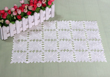 Embroidery flowers Hollow Placemats / beautiful coffee coasters Many Uses / Classic Europe Style / Hotel Restaurant Wholesale