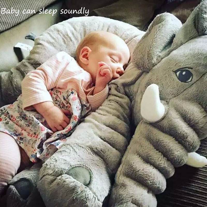Baby Bedding Pillows Soft Elephant shape Pillow Children Sleeping Cushion Room Decoration Toys Plush animal toys children gift<br>