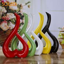 3D Beautiful Flower Vase Party Heart Shape Floral Vase(China)