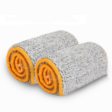 2Pcs Microfiber Mop Cloth for Lazy People Double Sided Flat Mop 360 Degrees Self Wring Flipping(China)