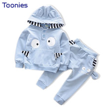 Cartoon Sports Wear Hooded Girls Suits Cute School Uniform Girl Clothes Casual Autumn Children Suit New Design Boy Clothing Sets