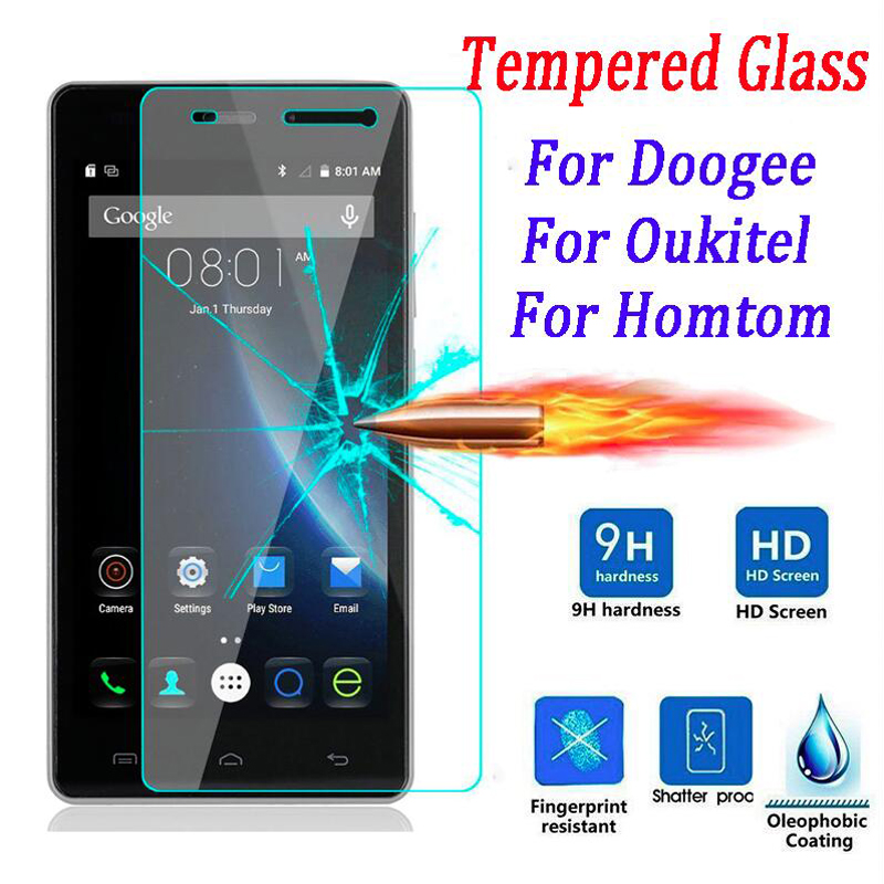 0.26mm Premium Tempered Glass DOOGEE X5 Max Pro X6 Y300 Y100 Homtom HT3 HT6 HT7 HT17 Oukitel K6000 Pro Screen Protector Film