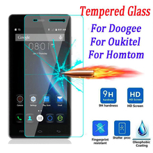 Buy 0.26mm Premium Tempered Glass DOOGEE X5 Max Pro X6 Y300 Y100 Homtom HT3 HT6 HT7 HT17 Oukitel K6000 Pro Screen Protector Film for $1.15 in AliExpress store