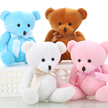 Lovely Teddy bear plush toys small doll bears for wedding cartoon flower bouquet bear toy Promotion Gifts 15cm