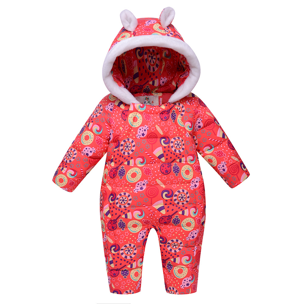 2017 New Children Jacket  Baby Clothes Thick Winter Coat  Baby Boys Girls Winter Cotton Thick Duc Down  Clothes Baby Jumpsuit<br>