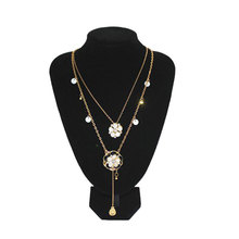 Fashion Black Jewelry Pendant Bust Velvet Necklace Display Stand Holder Show Decorate porte bijoux #55718