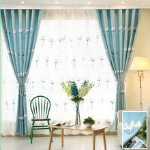 Korean Rural Cotton Towel Embroidery Curtain Cloth Sitting Room Bedroom Custom French Window Curtain of The Mediterranean