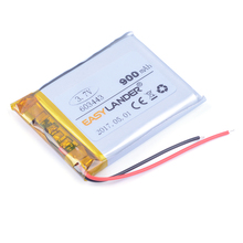 603443 3.7V 900mAh  Lithium li-Polymer Li-ion Rechargeable Battery For Mp3 MP4 MP5 GPS PSP DVR E-Book mobile electronic part