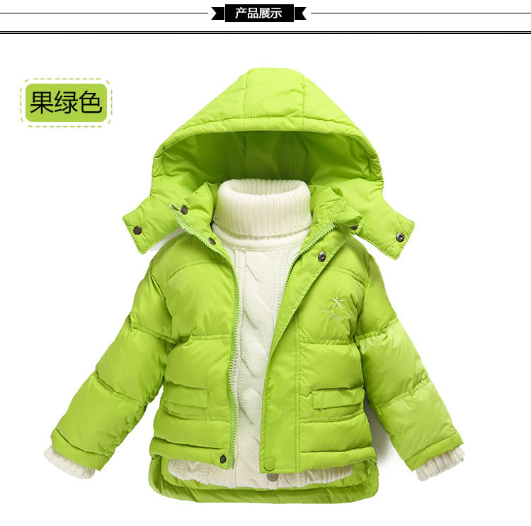 Children thick down jacket boys and girls baby infant childrens clothing short coat removable cap winter Outerwear &amp; CoatsОдежда и ак�е��уары<br><br><br>Aliexpress
