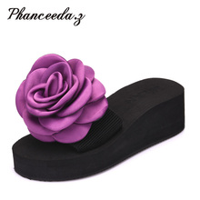 New Arrivals 2017 Summer Style Women Sandals Flip Flops Flower Ladies Casual Flats Women Slippers Jelly shoes Solid Size 5-9(China)