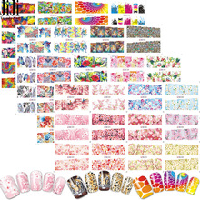 Trendy Nail 48pcs/set Nail Art Stickers Water Transfer Nails Decals Flowers Animal Cartoon Manicure DIY Tools JIBN073-120