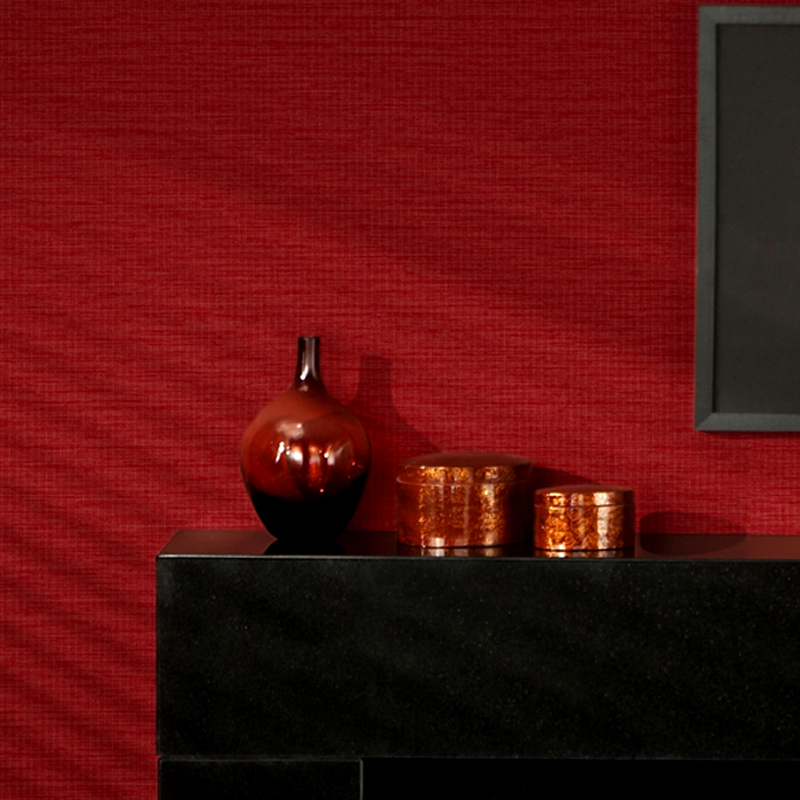 Modern Solid Color Red Black Striped Straw Textured Wallpaper For Walls Roll 3D PVC Waterproof Embossed Vinyl Wall Paper Rolls<br>