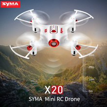 2017 SYMA X20 Mini Dron RC Quadcopter Drone 2.4G 4CH 6-aixs Gyro RTF with Headless Mode Altitude Hold 3D-flip Latest Aircraft(China)