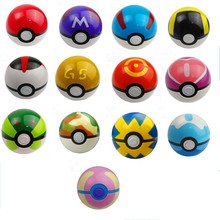 2 Pocket Monster Pikachu Balls Pokeball Pop-up Super Ball Kids Toys Gift approx 7cm Color Sent Random PKQ086 - InToyCity store