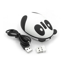 New 2.4GHz Wireless Rechargeable Optical Panda Computer Mouse for Win/Mac/Linux/Andriod/IOS Hot Promotion