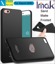 imak Frosted Sand Case Cover For Xiaomi Mi5C Mi 5C TPU Silicone Matte Skin Protector Anti-fingerprint + Soft Tempered Glass