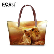 FORUDESIGNS Handbags Women Casual Tote Shoulder Bags Cool 3D Animal Lion Printed  Female Cross Body Large Messenger Bags Ladies ccd34aa40e