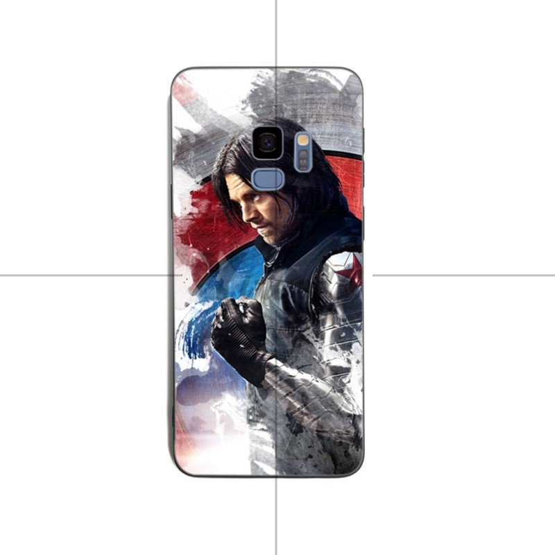Yinuoda Bucky Barnes Black Soft silicone Cover case For samsung S6 edge S8 S9 S7 S9Plus Note 8 9