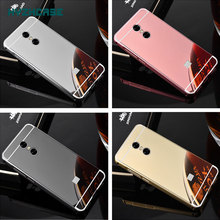 "Fashion Luxury Rose Gold Silver Black Beauty Mirror Case For Xiaomi Redmi Note 4X 5.5"" Hongmi4x Shell Back Cover Housing New"