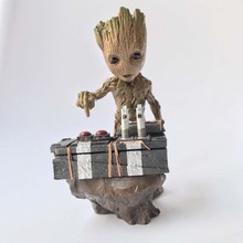 Guardians of the Galaxy 2 DJ Baby The Tree Man Statue Action Figure Collectible Model Toy 18cm Free Shipping