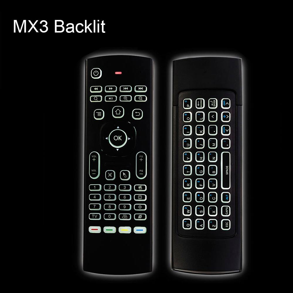 [AVATTO] MX3 II Backlit IR Learning Air Mouse 2.4G USB Wireless Backlight mini Keyboard for Smart tv,Android Box,Mini PC(China)