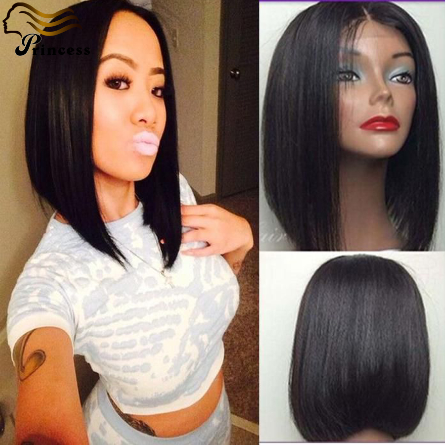 Cheap Brazilian Human Hair Bob Wig Silky Straight Lace Front Human Hair Wigs With Baby Hair Short Human Hair Wigs Free Shipping<br><br>Aliexpress