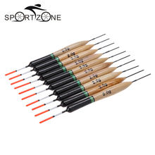 10Pcs/Set 2g Fishing Floats Paulownia Wood Fishing Bobbers Professional Fishing Tackle Tools(China)