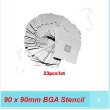 Free shipping 90 x 90mm BGA Stencil Kit for Game Console for Xbox / PS3 / Wii Chip 23pcs/set for BGA reballing kit(China)