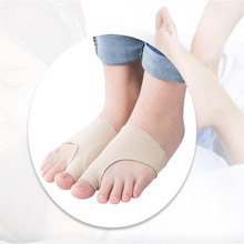 1pair=2pcs Stretch Nylon Great Toe Cyst Foot Care Tool , Hallux Valgus Guard Cushion Bunion Toe Separator Free shipping(China)